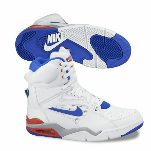 Nike Air Command Force - Pump Shoe -White/Lion Blue/Crimson Shoes Size 11 - 0 [W3n493]